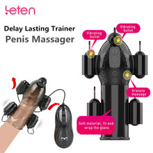 Electric Shock Glans Vibrators Ring For Male Masturbator Penis Delay Lasting Trainer Penis Massager Erotic Adult Sex Toy For Men sex toy for men rechargeable penis massager remote control male masturbator delay lasting trainer sex toys men s glans vibrators
