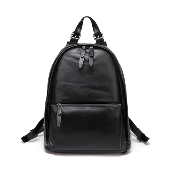 Genuine Leather Embossed Leather Full-grain Leather Men's Backpack College Style in Large School Bag Backpack Computer Backpack