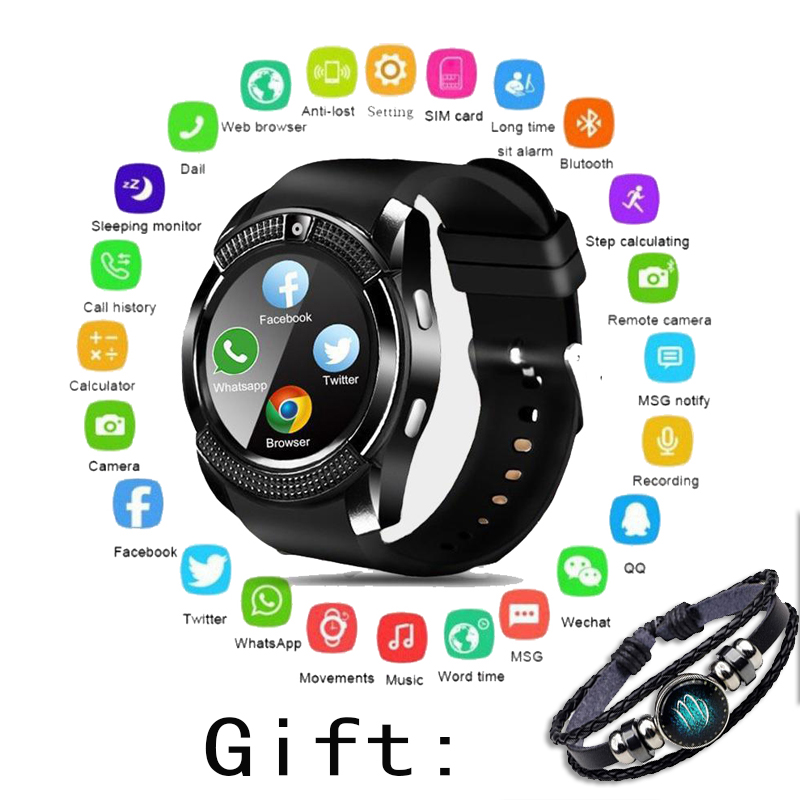 Smart Watch Bluetooth Touch Screen Android Waterproof Sport Men Women Smartwatched With Camera SIM Card Slot  Fitness Watch