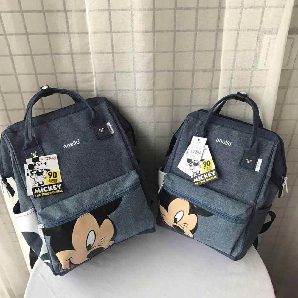 Mochila Disney Mickey mouse, mochila multifunción de gran capacidad, mochila para pañales, bolso de hombro impermeable para hombre y mujer, bolso de viaje