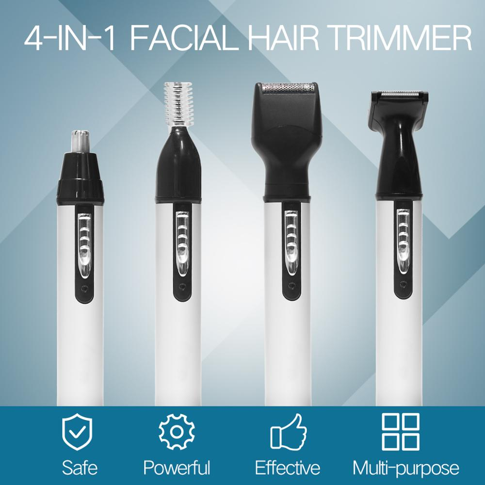 4 in1 Electric Ear Nose Trimmer for Men's Shaver Rechargeable Hair Removal Eyebrow Trimer Safe Lasting Face Care Tool Kit