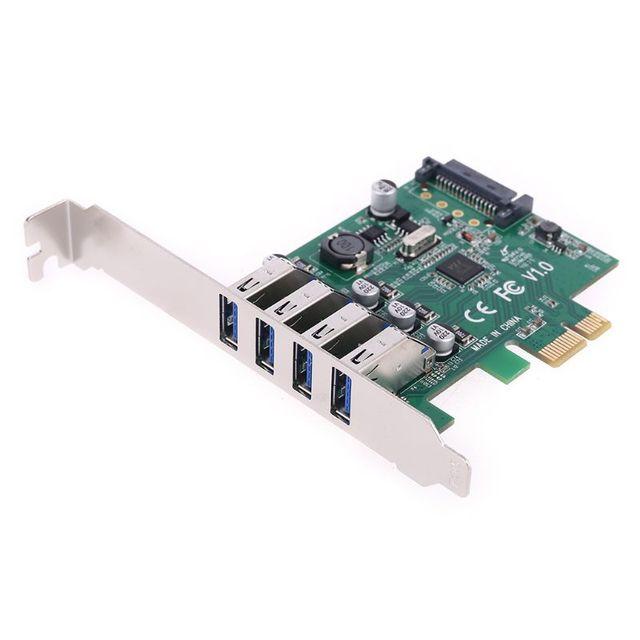4 porty USB 3 0 PCIE karta rozszerzeń PCI Express Sata piasta płyta kontrolera mocy na pulpit PC tanie i dobre opinie BGEKTOTH NONE CN (pochodzenie) TXB0036 Dodać na karty Plastic + Metal