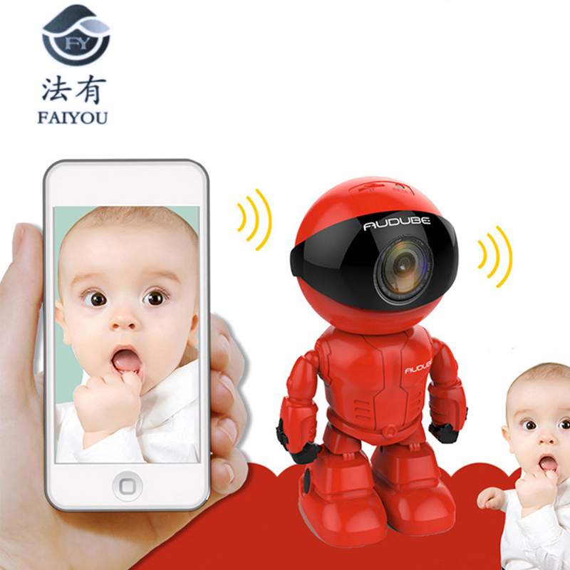 Clearance SaleCctv-Cam Camera Robot Wifi Baby-Monitor Surveillance-Hd Android Wireless for IOS Lens
