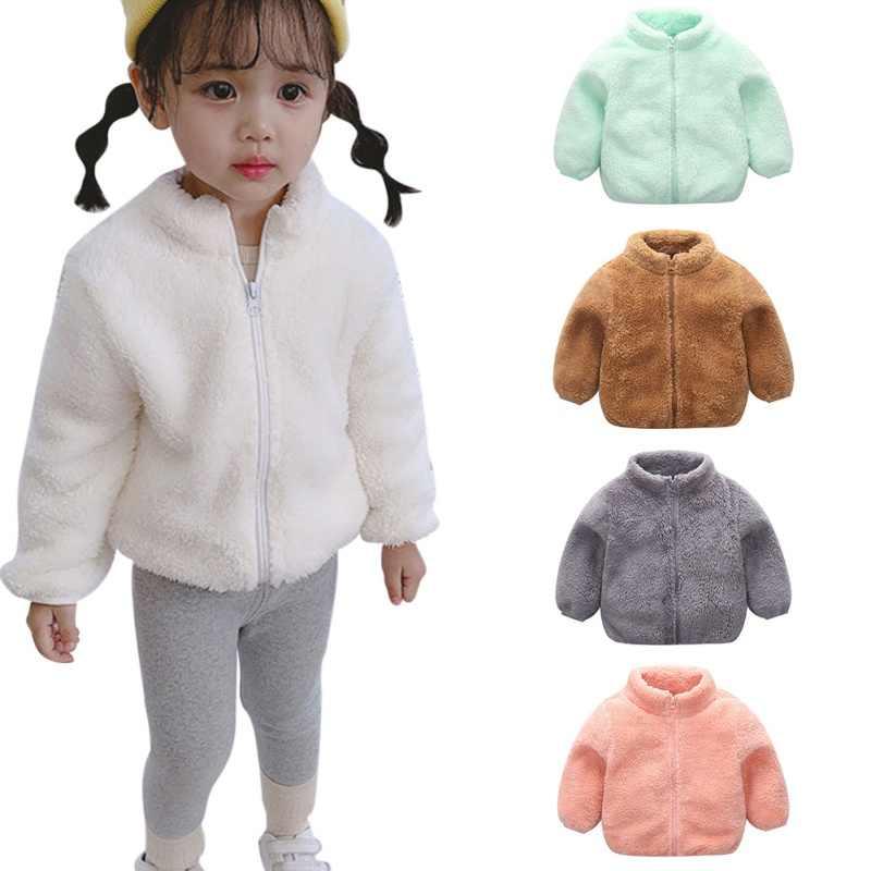 ילדי החורף חיצוני צמר מעילי בגדי סלעית חם הלבשה עליונה מעיל רוח תינוק ילדים מעילים
