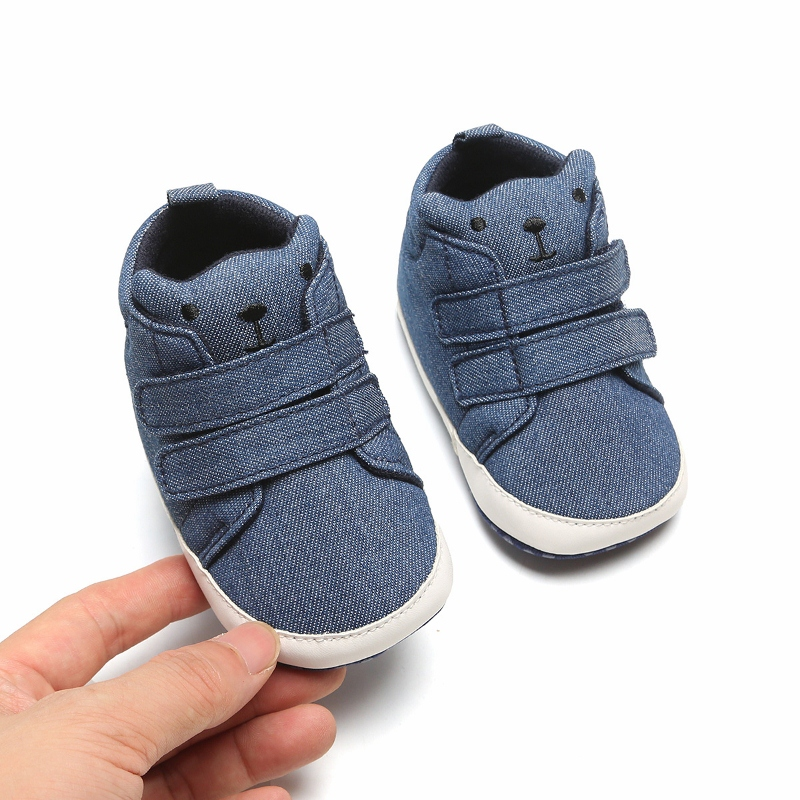 Newborn Baby Boys Shoes Infant Boy Pre-Walker Soft Sole Pram Shoes Canvas Sneakers Trainers Casual Shoes
