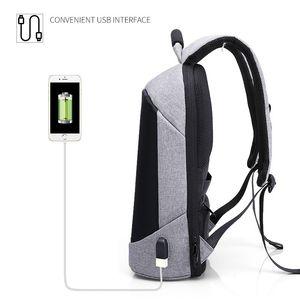 Image 2 - Homem impermeável anti roubo mochilas portátil modernista olhar resistente à água com porta de carregamento usb 15.6 notebook viagem mochila