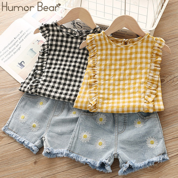 Humor Bear Baby Girls Clothes 2019 Summer New Children Clothse Baby Girls multicolor Coat+Shorts Suit Toddler Girls Clothing 5