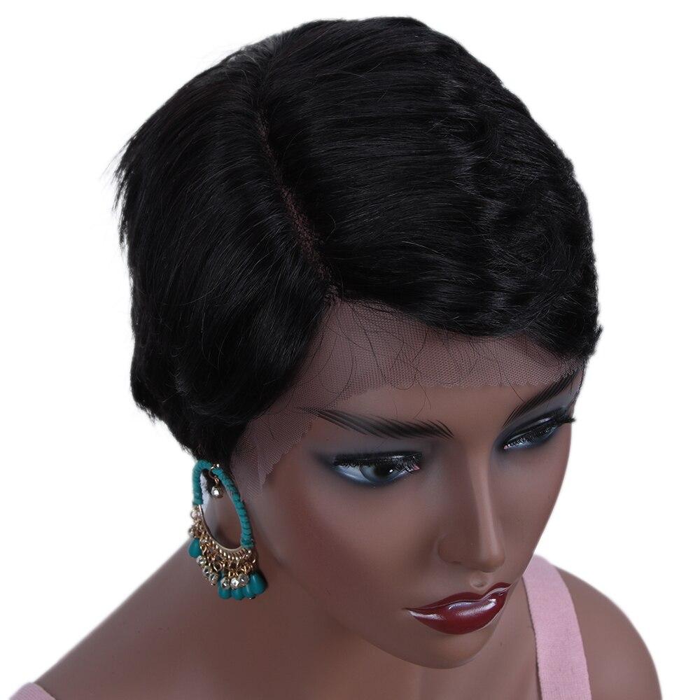 Rebecca, парики из натуральных волос на кружеве для черных женщин, прямые парики из натуральных волос, предварительно выщипанные, 613 блонд, розовый, бордовый, 99J