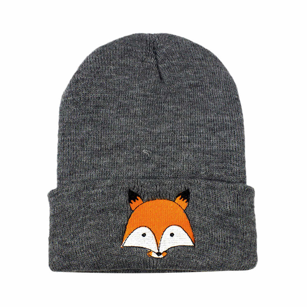 New Arrival Baby Hat for Girl Boy Winter Hat for children Soft Warm fox Beanie Hats Crochet Elasticity Knit Hats Baby Cap L50599