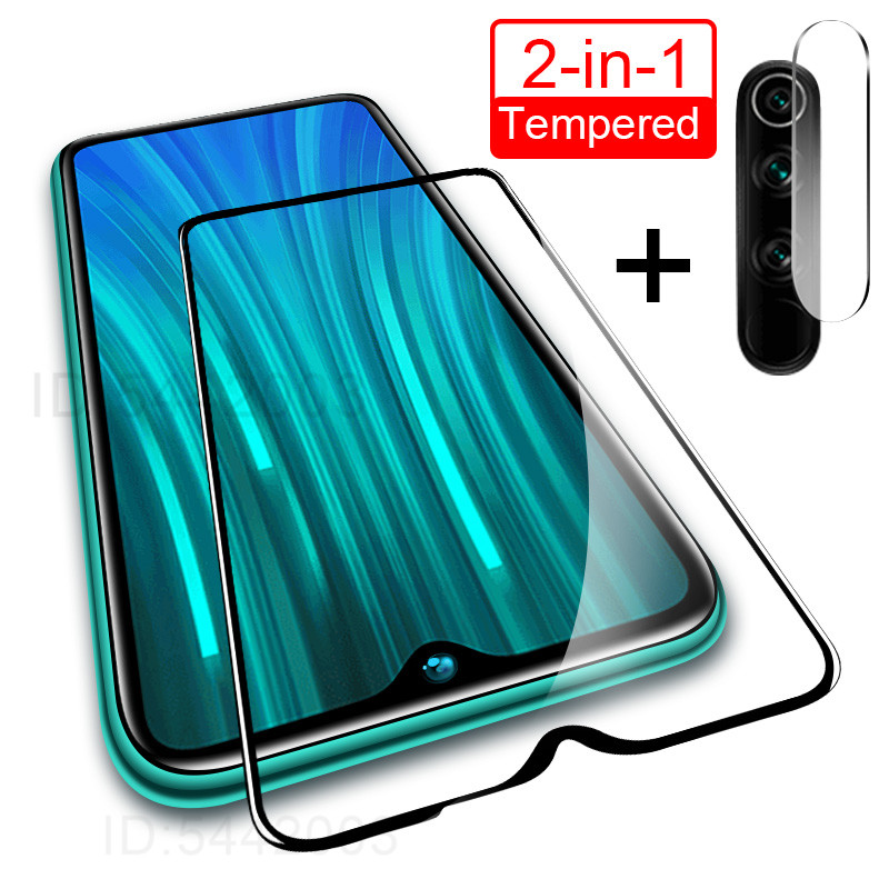 <font><b>2</b></font> in 1 Camera Lens Tempered Glass For Redmi Note 8 7 <font><b>6</b></font> <font><b>5</b></font> Pro 8A 8T Screen Protector For Xiaomi Redmi 7 7A 8 8A 8T Glass Film image