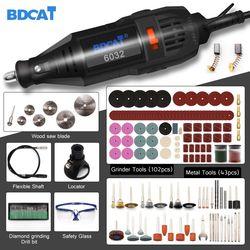 BDCAT 180w elektryczna szlifierka rotacyjna Dremel Mini wiertarka szlifierka z 207 sztuk akcesoria do elektronarzędzi w Wiertarki elektryczne od Narzędzia na