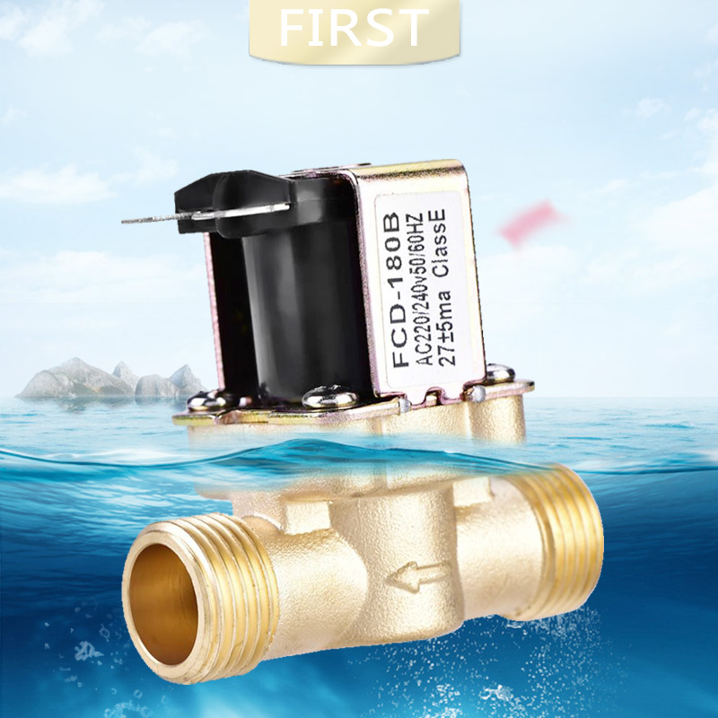 Normally Closed Brass Solenoid Magnetic Valve For Hot Water Control 24V 3/4 Inch 1/2 Inch Electric Valve For Solar Water Heater
