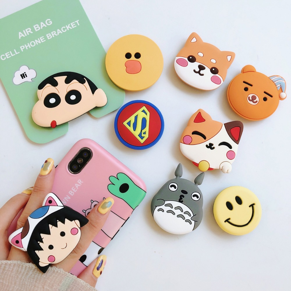 Cute Phone Universal Cat Claw Mobile Phone Stretch Bracket Cartoon Air Bag Phone Expanding Phone Stand Finger Car Holder