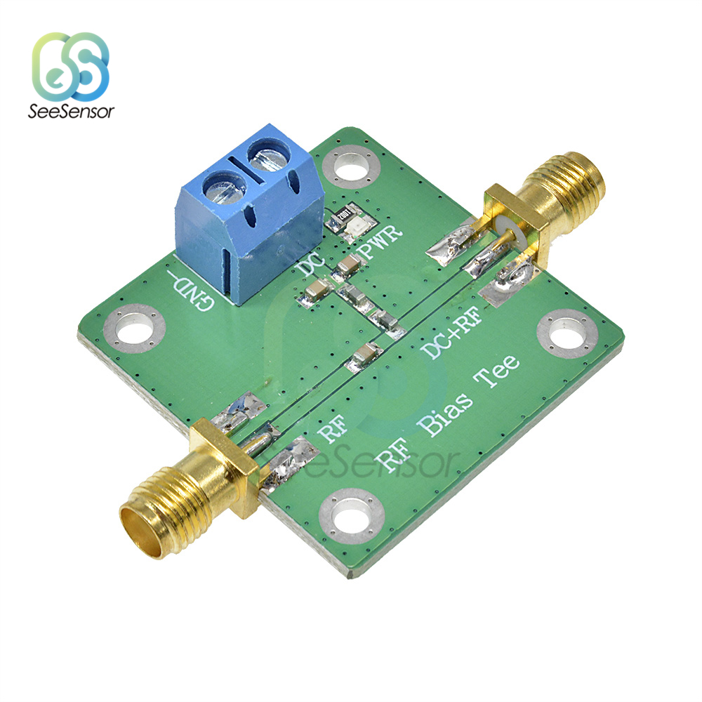 Bias Tee Wideband DC Blocker 10-6000MHz 6GHz For HAM Radio RTL SDR LNA Low Noise Amplifier