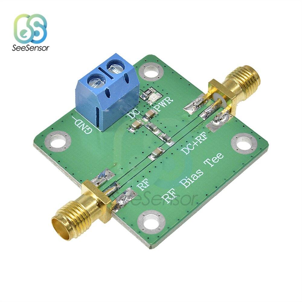 T de polarización de banda ancha DC Blocker 10-6000MHz a 6GHz jamón Radio RTL SDR LNA amplificador de bajo ruido