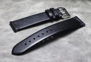 Ручной работы Тонкий французский кожаный ремешок для часов 18 19 20 21 22 мм быстросъемный кожаный ремешок для DW daniel wellington часы seiko Band