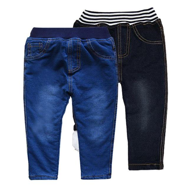 Baby Boys Clothing High Quality Thicken Winter Warm Cashmere Jeans  2