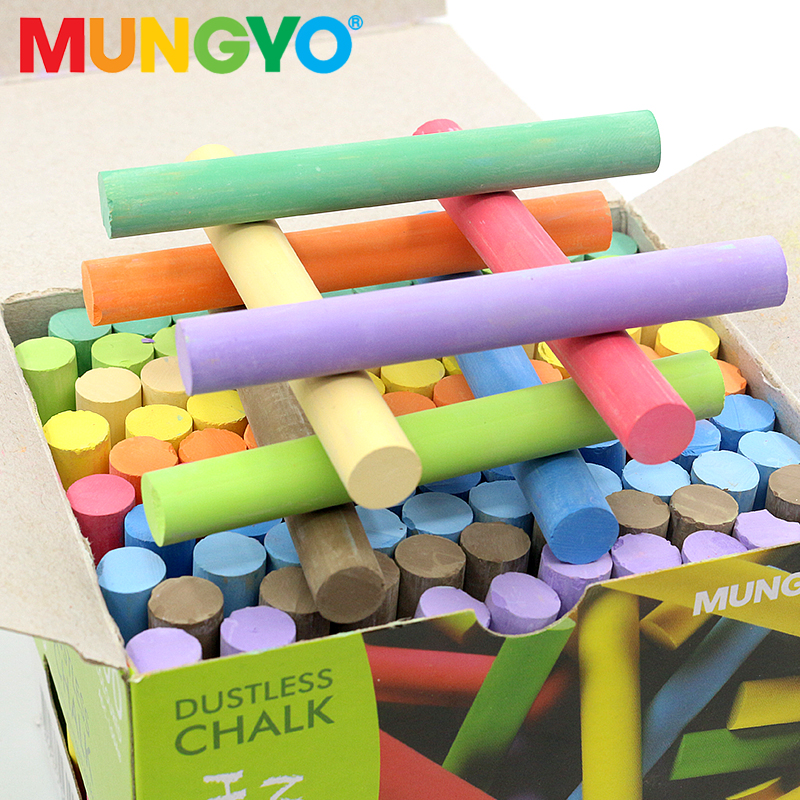 Mungyo 100A Colorful Dust-free Non-toxic Non-dust Chalk Students Teacher Dedicated Color Pen Chalk Holder MCH-6 Not Dirty Hands