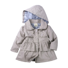 2020 New Spring Autumn Girls Windbreaker Coat Baby Kids Hooded Outwear Baby Kids Girl Jacket Children Clothing 9M-5Y