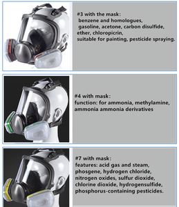 Image 5 - 6800 Type Industrial Painting Spraying Respirator Safety Work Filter Dust Proof Full Face Gas Mask Formaldehyde protection
