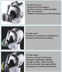 Image 5 - Grote Maat Volledige Gezicht 6800 Gasmasker Gelaatsstuk Respirateur Schilderen Spuiten voor schilderen chemische Laboratorium medische Veiligheid masker