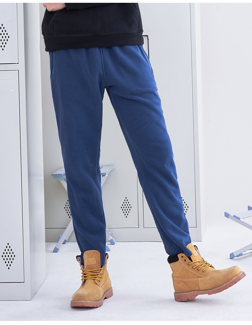 Image 3 - Pioneer Camp US Size Fleece warm pants men brand clothing solid autumn winter casual trousers male soft straight AZZ801372Y-in Casual Pants from Men's Clothing
