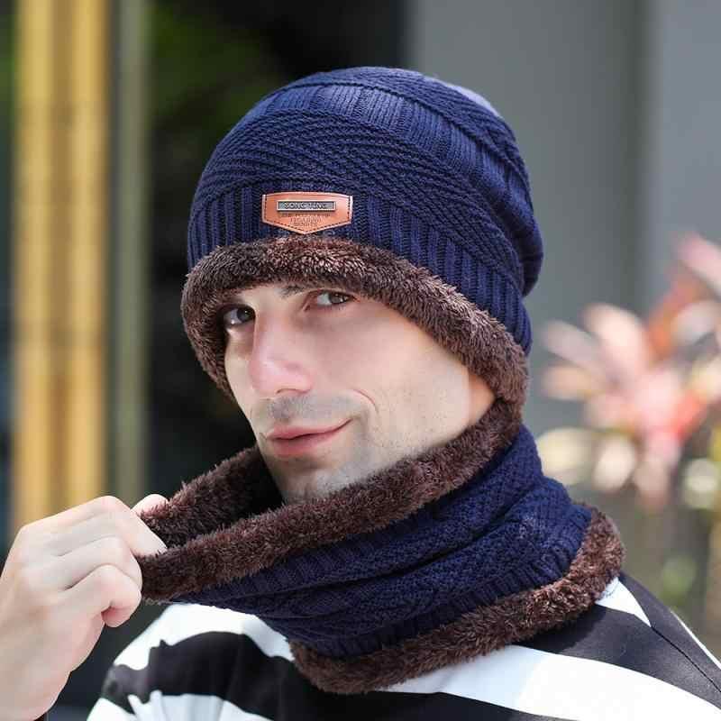 Winter Hat Skullies Beanies Hats Caps For Men hat scarf wool hat Fashion 2020
