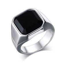 Men's Ring 316l Stainless Steel Signet Solid Fashion Man Ring Simple Biker Unique Ring For Men Vintage Steel Jewelry Wholesale wholesale men s high polished signet solid stainless steel man ring 316l stainless steel biker ring for men