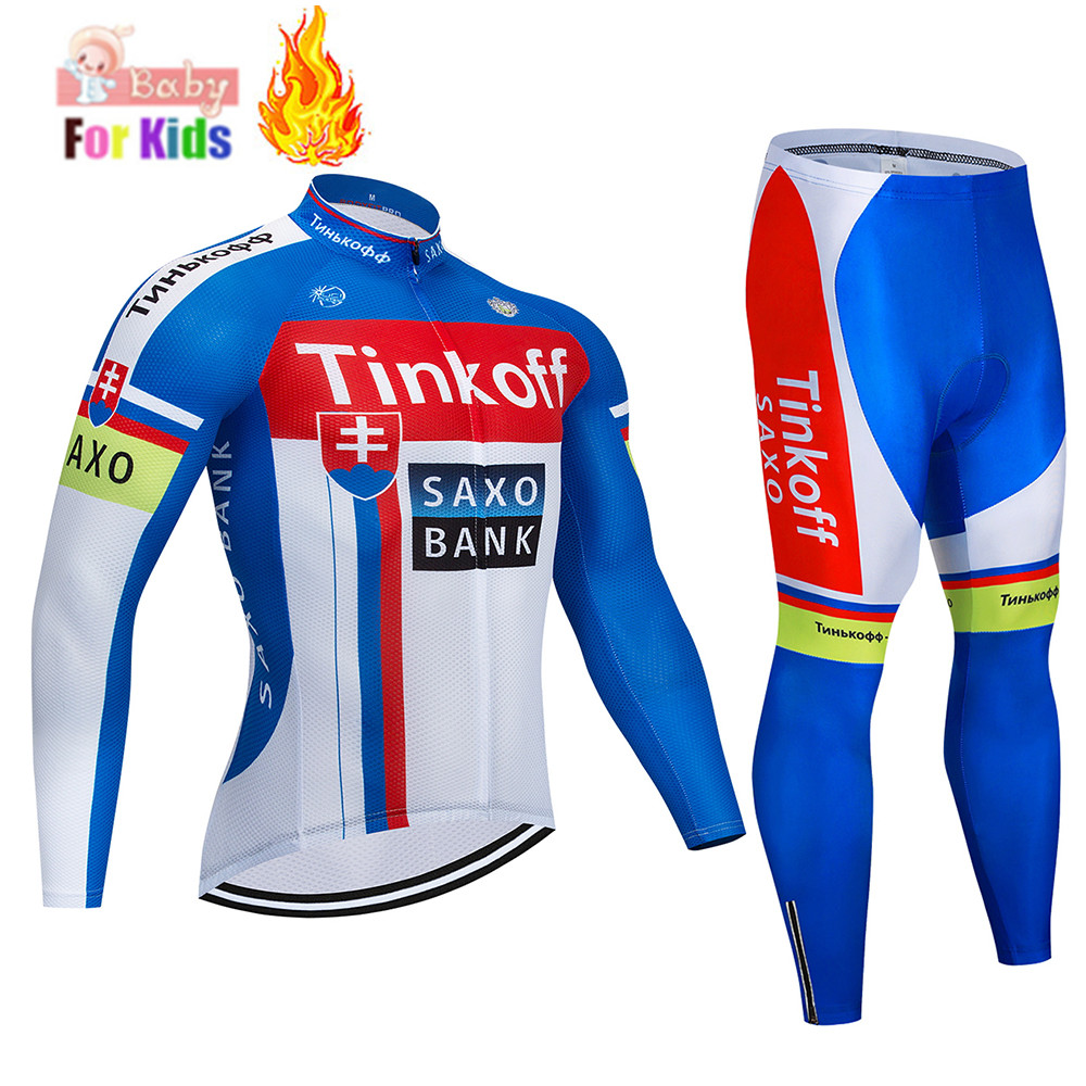 Boys Winter Thermal Fleece Cycling Jersey Set Children Bicycle Wear Bike Cycling Clothing Kids Cycling Uniform Ropa Ciclismo|Cycling Sets| |  - title=
