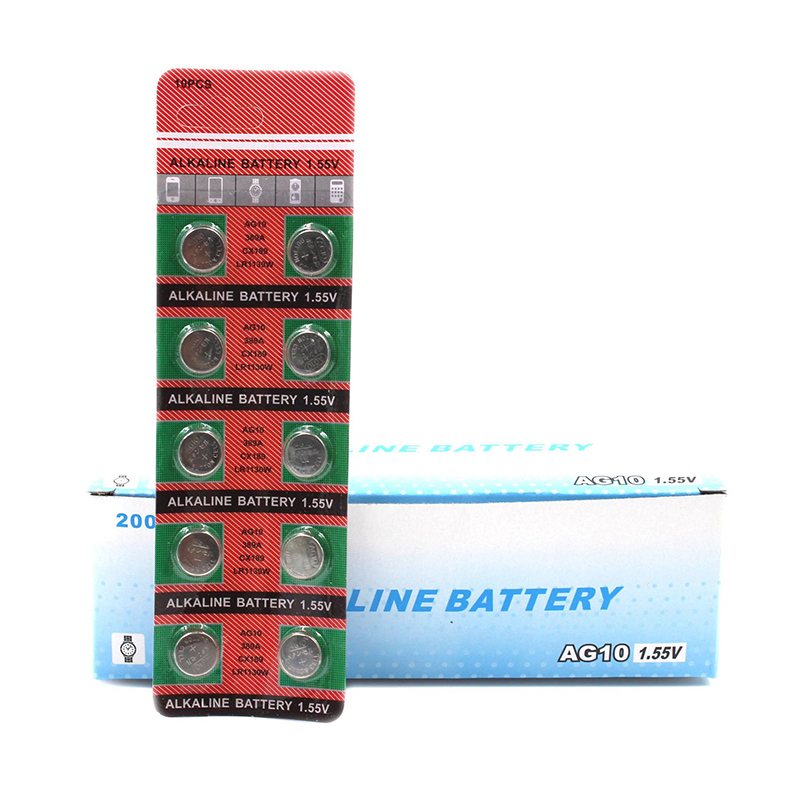 80pcs/pack 8 cards <font><b>AG10</b></font> LR1130 389 390 1.5V Alkaline Button Cell Coin <font><b>Battery</b></font> Wholesales Disposable Calculator Toys <font><b>Batteries</b></font> image