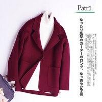 Winter Coat Women Autumn 100% Wool Coat Double Sided Cashmere Jacket Ladies Woolen Casaco Feminino Hiver 9086