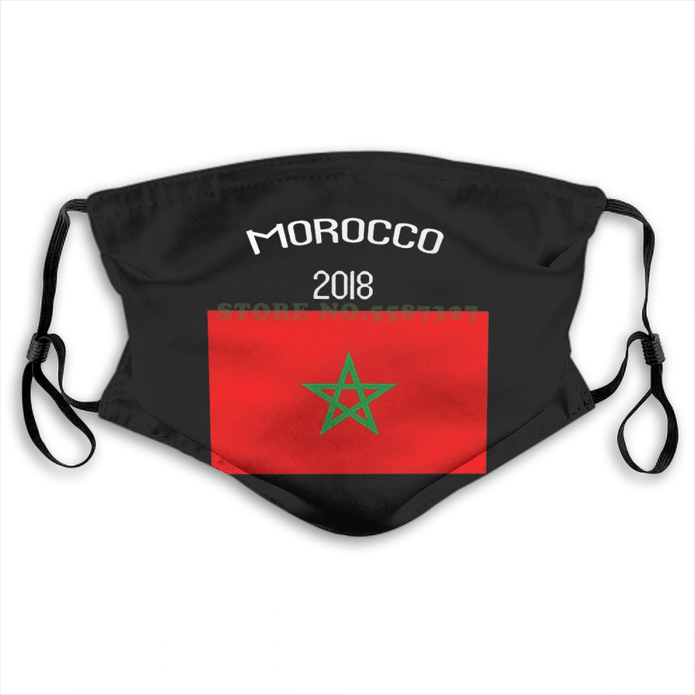Face Mask Morocco Flag Russia World Match Cup Newest Design Fans Footballer Retro Summer Hot Sale Print Diy Masks