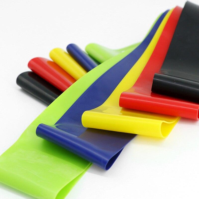 Резиновые ленты для йоги, эластичные ленты для фитнеса 0,3 мм-1,1 мм, тренировочная резинка для фитнеса, пилатеса, спортивное оборудование для кроссфита и тренировок-5