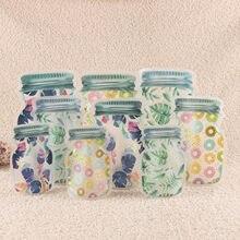 Sac d'emballage de bonbons, sac Transparent à fermeture éclair pour conservation des aliments, sac scellé pour petits bijoux, sacs en Poly refermables # Y10