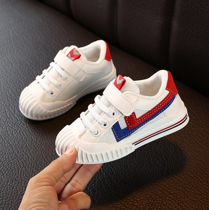 New Autumn Children Sports Shoes Boys Breathable Cozy Running Shoes Girls Fashion Soft Sole Sneakers Size 21- 30