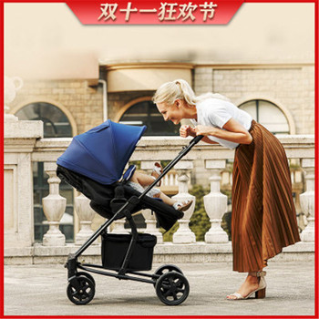 High landscape baby stroller four-wheel shock absorber reclining reclining stroller umbrella cart folding stroller newborn 5 5kg high landscape baby stroller lightweight baby strollers foldable portable four wheel stroller baby carrier pushchair cart