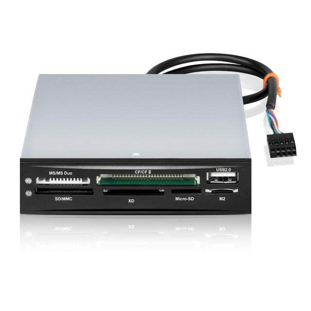 USB 2.0 Card Reader Hub 3.5 Front Panel TF Flash MiniSD Micro SD Card Slot MMC MS CF XD CF Hight Speed Card Reader Floppy Box 3