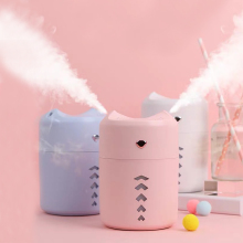 400ML Cute Cat Air Humidfier Portable Mist Sprayer Dual Nozzles USB Aroma Essential Oil Diffuser Ultrasonic Vaporizer Light Difusor