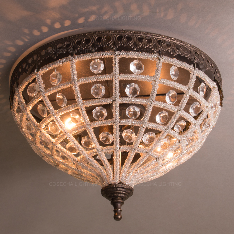 Vintage Crystal Ceiling Lamps French Ceiling Lights For Bedroom Kitchen Corridor Hallway Flush Mount Light Fixture Loft Lighting Ceiling Lights Aliexpress