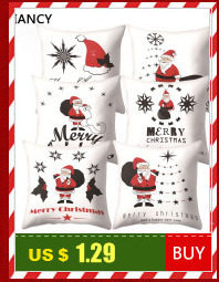 Santa Deer Pattern Christmas Cushion Cover Decorative Throw Pillow 45*45cm Polyester Pillowcase Xmas New Year Home Decor 40543 16
