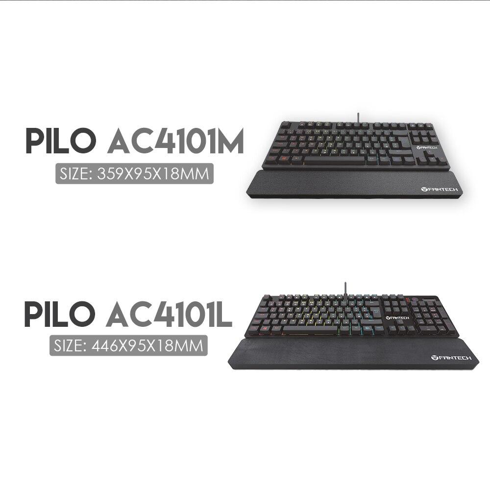 FANTECH AC4101 Tastiera Ergonomica Wristpad 35.9X9.5X18 CM Non-slip E Fatta Di Naturale di Gomma Da Polso pad Tastiera Per PC