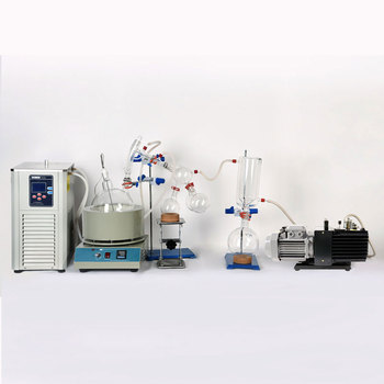 Lab Equipment 2L Short Path Distillation Kit Complete Turnkey Package w/ Vacuum Pump & Chiller