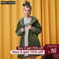 Metersbonwe brand trench coat women's spring vintage coat fashion long coat students 2019 new style