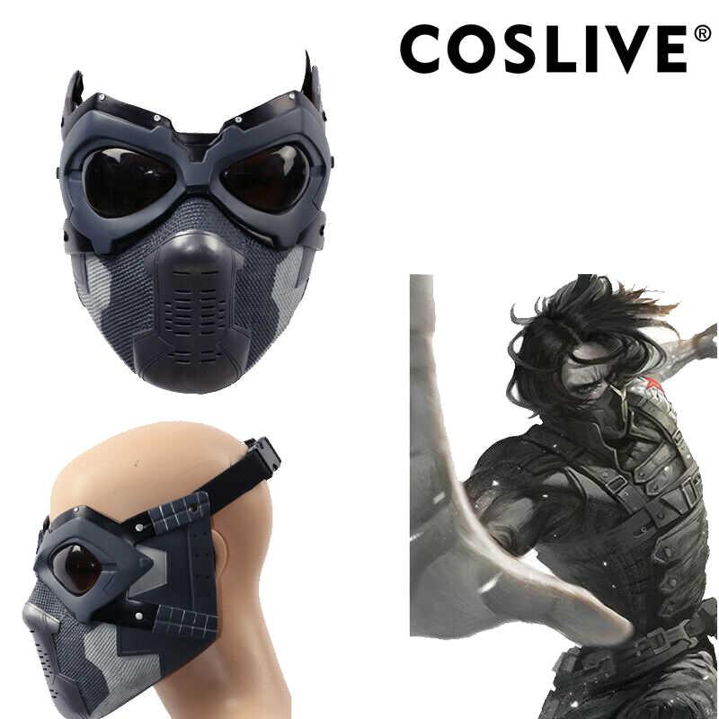 xcoser Bucky Mask Arm Sleeve Deluxe Winter Soldier Barnes Mens Cosplay Costume Prop