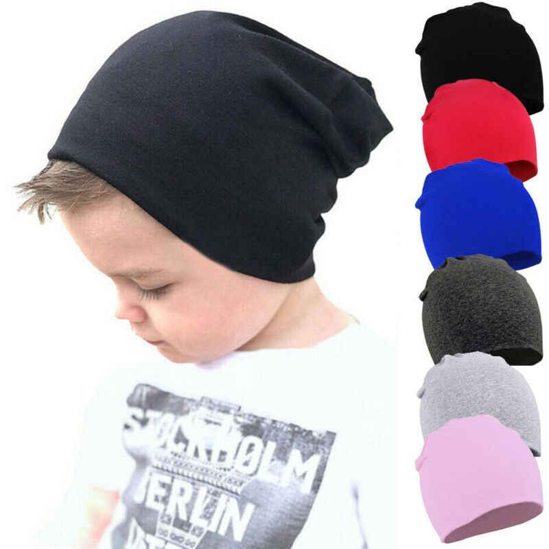 2020 Barang Bayi Aksesoris Bayi Topi Beanies Musim Dingin Hangat Gadis Anak Laki-laki Balita Bayi Anak-anak Anak Solid Hat Katun Lembut Hangat cap