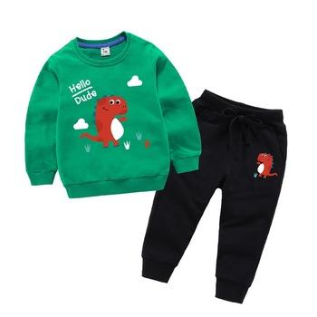 Wiosna chłopcy dziewczęta odzież ustawia jesień dorywczo nastoletni chłopcy śliczny drukuj koszulka z długim rękawem + spodnie 2 szt Dresy sportowe dla dzieci tanie i dobre opinie Nowość O-neck Swetry baby clothing sets COTTON Dziewczyny Pełna REGULAR Pasuje prawda na wymiar weź swój normalny rozmiar