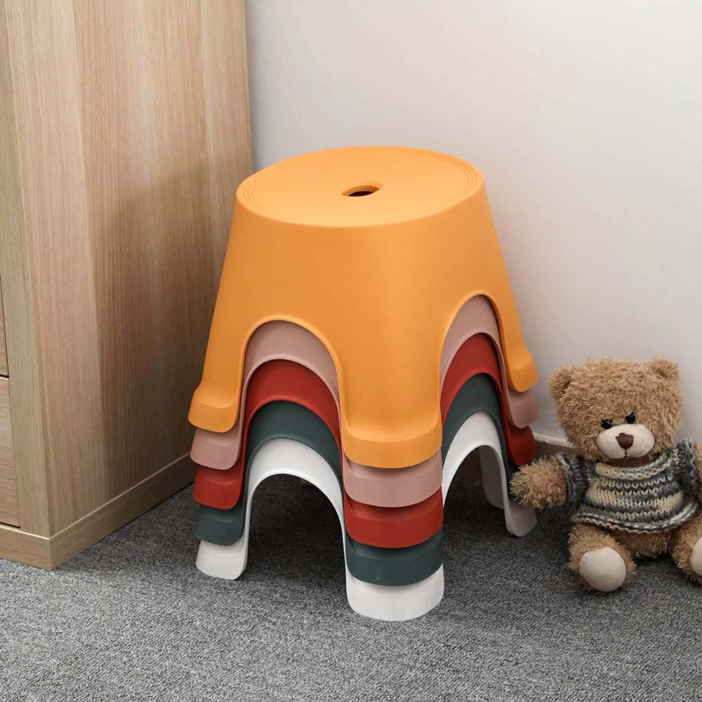 1PC Plastic Thicken Square Stool Living Room Non-slip Change Shoe Bench Kindergarten Kids Child Study Stool