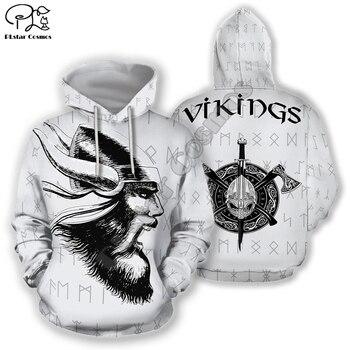 PLstar Cosmos Viking Armor Tattoo Warrior God Odin Symbol NewFashion Tracksuit Harajuku Funny 3Dprint Men/Women Hoodie 24
