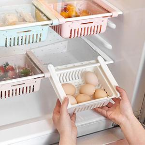 Basket-Rack Shelf-Holder Freezer Organiser Refrigerator Storage Drawer Space-Saver Fridge