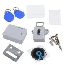 Невидимый скрытый RFID свободный открывающийся интеллектуальный датчик замок шкафчика шкаф ящик обувного шкафа дверной замок электронный Темный